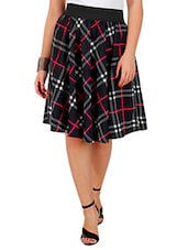 black crepe flared skirts -  online shopping for Skirts