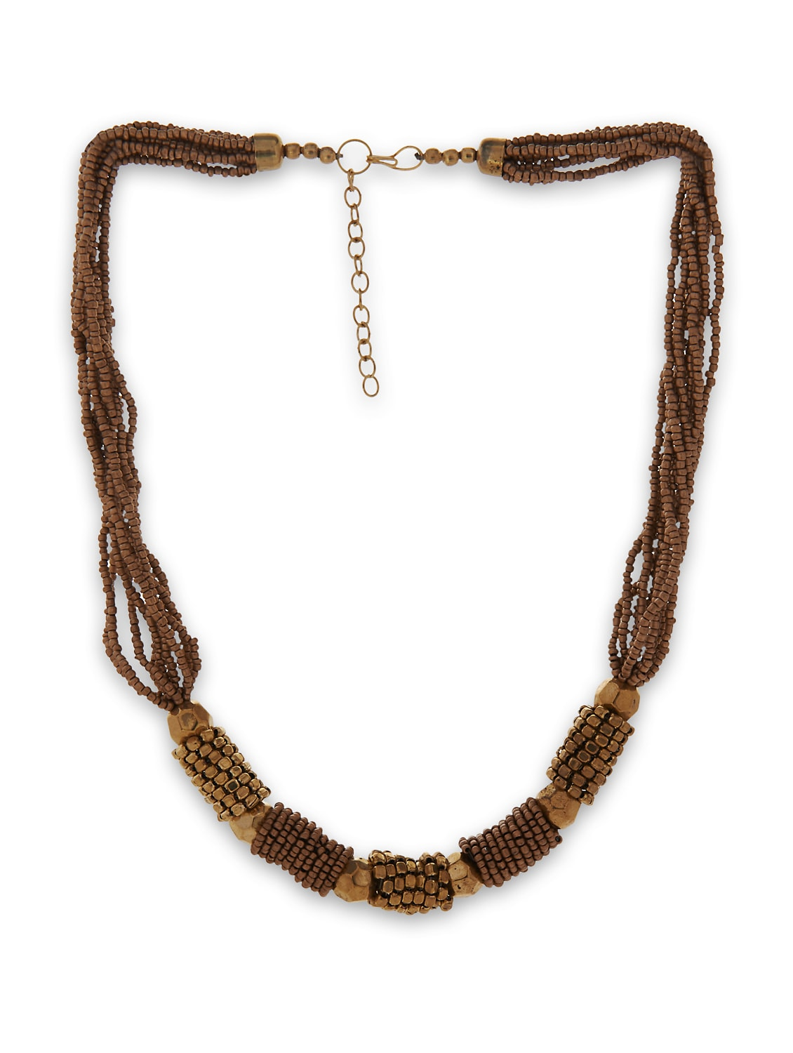 Gold Bead Necklace - Accessory Bug