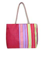 Multicolored Printed Jute Bag - By