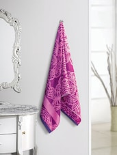 Purple And Pink 100% Cotton Bath Towel - By