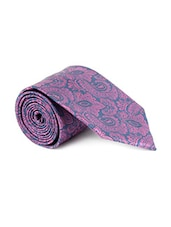 purple blue color, microfiber neck- tie -  online shopping for Ties