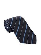 navy color, microfiber neck- tie -  online shopping for Ties