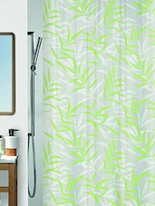 Green Printed Polyester 1 Piece Shower Curtain - By