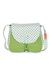 Polka Print Cotton Canvas Sling Bag - Vogue Tree