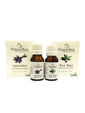 OrganoVeda  Tea Tree & Lavender Essential Oils (15 Ml Each) - By