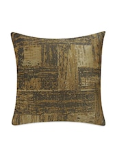 Beige Jacquard Cushion Covers Set - By