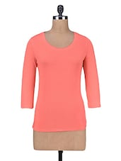 Solid Coral Cotton Top - By