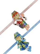 Multicolour Fabric Kids Rakhi - By