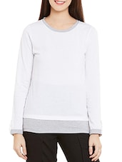white cotton regular pullover -  online shopping for Pullovers