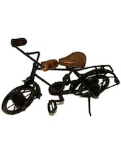 Desi Karigar Wooden & Iron Cycle Antique Home Decor Product ( Black, 10 X 7 Inch ) - By