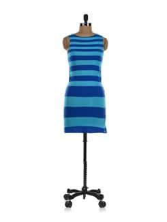 Blue-green Striped Dress - NUN