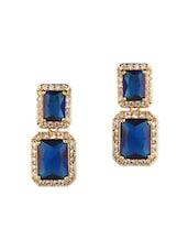 Blue metal studs earring -  online shopping for earrings