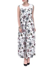 Floral Printed Sleeveless Dress - By