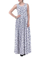 Printed Cotton Maxi Dress - By