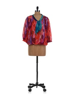 Multicoloured Printed Balloon Top - NUN
