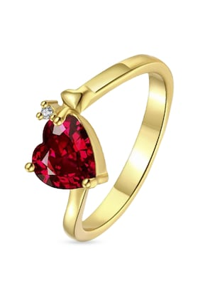 red heart metal hand ring -  online shopping for rings