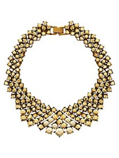 Gold Metal Collar Necklace - By