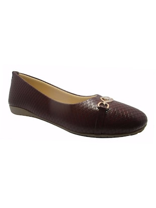 brown faux leather ballerina -  online shopping for ballerina