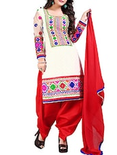 white cotton salwar suits semistitched suit -  online shopping for Semi-Stitched Suits