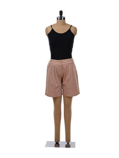 Rugby Tan Pleated Shorts - NUN