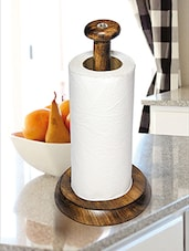 Kitchen Roll Holder Counter Wood -  online shopping for Napkin Holders