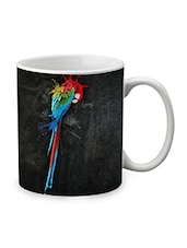 Black Ceramic Parrot Mug - By