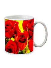 Red Ceramic Red Rose Mug - By