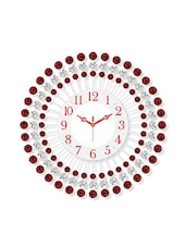 Red iron wall clock -  online shopping for Wall Clocks