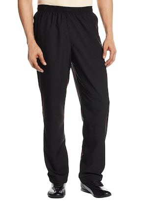 black polyester  full length track pant -  online shopping for Track Pants