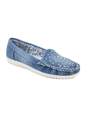 blue denim loafer -  online shopping for Loafers