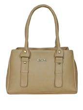 Beige faux leather handbag -  online shopping for handbags