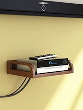 Onlineshoppee Wooden Beautiful Design Set top box Wall Shelf -  online shopping for Wall Hanging