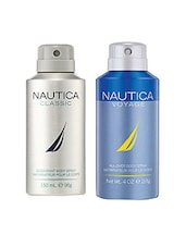 Nautica Classic and Voyage Deodorant Body Sprays for Men (Set of 2 x 150 ml) -  online shopping for Deodorants