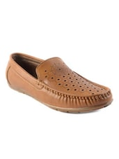 tan synthetic slip on loafers -  online shopping for Loafers