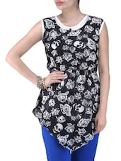 Black Knitted Polyester Short Party Wear Dress - By