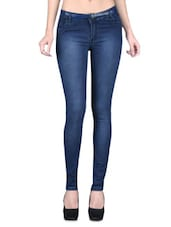 Blue Denim Lycra Stretchable Jeans - By - 1221456