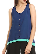 blue layered top -  online shopping for Tops