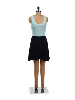 Jet Black Short Flared Skirt - Forever  New