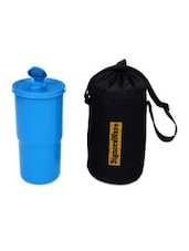 Blue Plastic Bottle And Jug (with Bag) - By