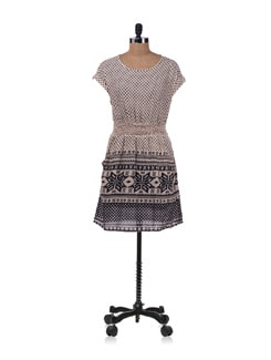 Beige Printed Dress - Allen Solly