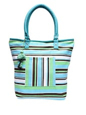 Multicolor Yarn Dyed Striped Canvas Tote Bag - By