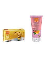VLCC Gold Facial Kit With Mandarin And Tomato Natural Fairness Face Wash 75ml Free - By