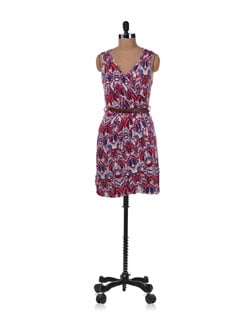 Multicolored Printed Dress - Allen Solly