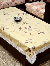 Azalea Eva 8 Seater Floral Printed Table Cover , Yellow , Pack Of 1 - By