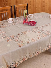 Azalea Cloth 8 Seater Organza Table Cover , Multicolor, Pack Of 1 - By