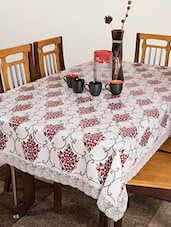 Azalea Dynasty 4 Seater PVC Table Cover , Red  , Pack Of 1 - By