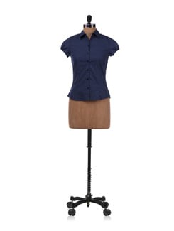 Blue Dotted Shirt - Allen Solly