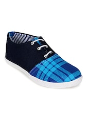 blue canvas  sneaker -  online shopping for Sneakers