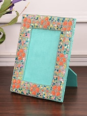 Sea Green Wooden Sequined Photo Frame - By