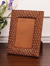 Brown Polybeaded Wooden Photo Frame - By
